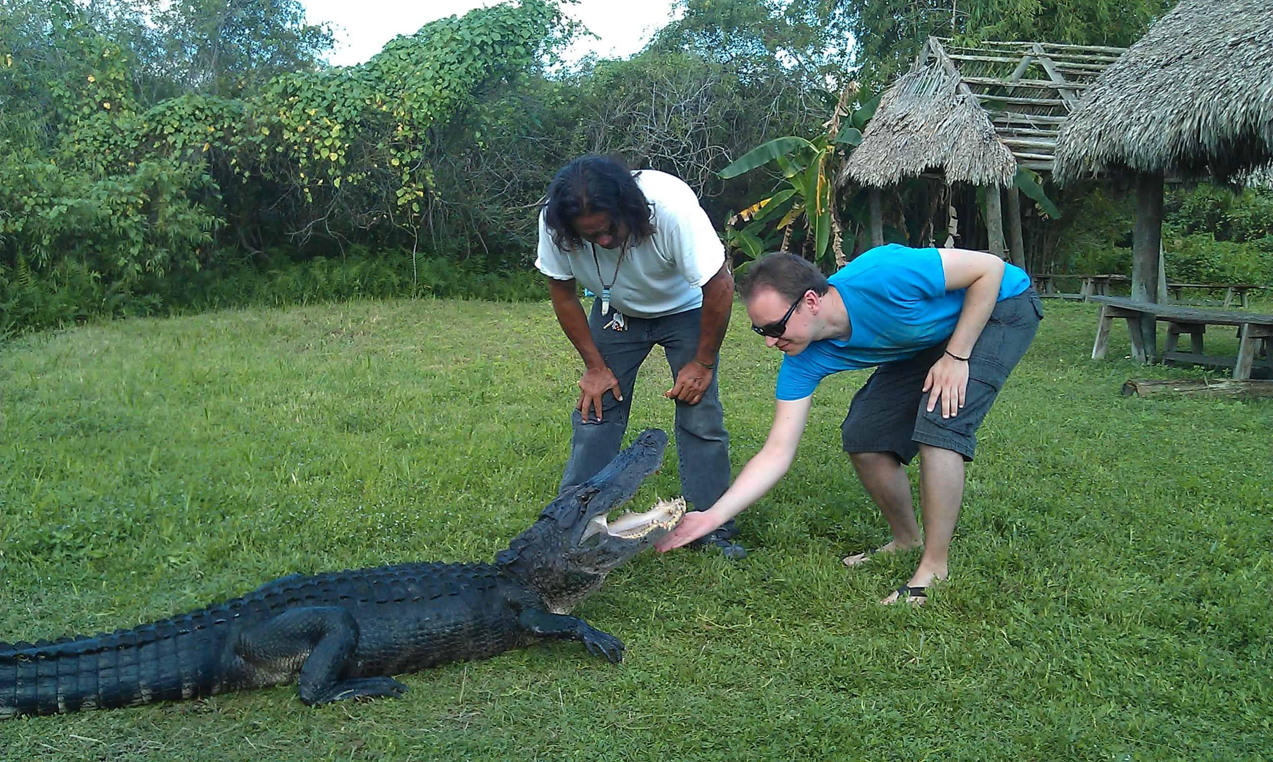 Thomas Klussmann bevor er von einem Aligator verspeist wird :)