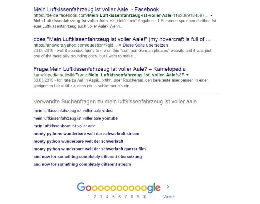 Google Verwandte Suchanfragen