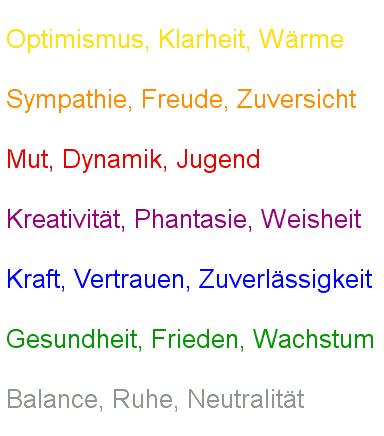 Farben Bedeutung