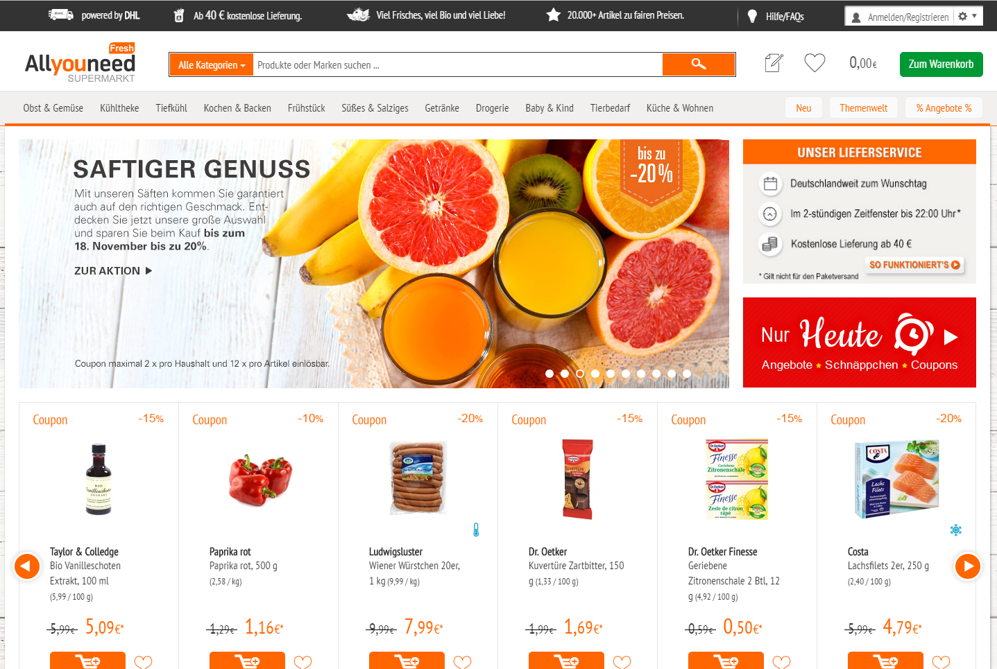 e-Commerce und Lebensmittel