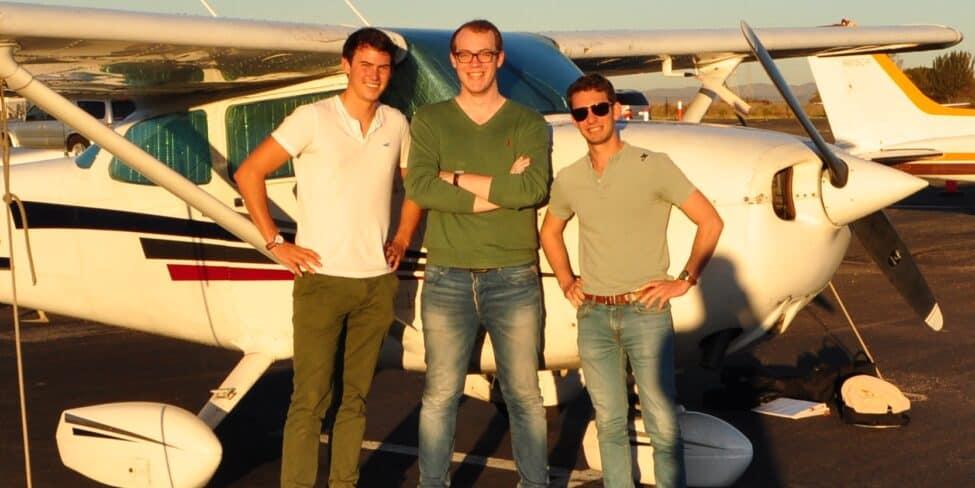 Die Wingly Gründer Emeric de Waziers. Lars Klein und Bertrand Joab-Cornu. (v.l.n.r)