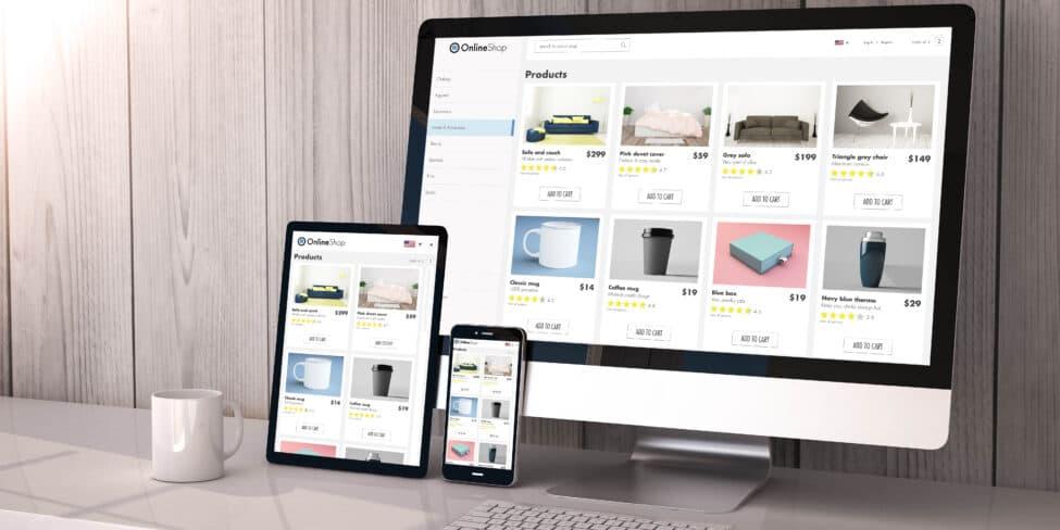 Produktverkauf im Internet
