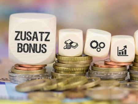 Zusatz-Bonus / Münzenstapel mit Symbole