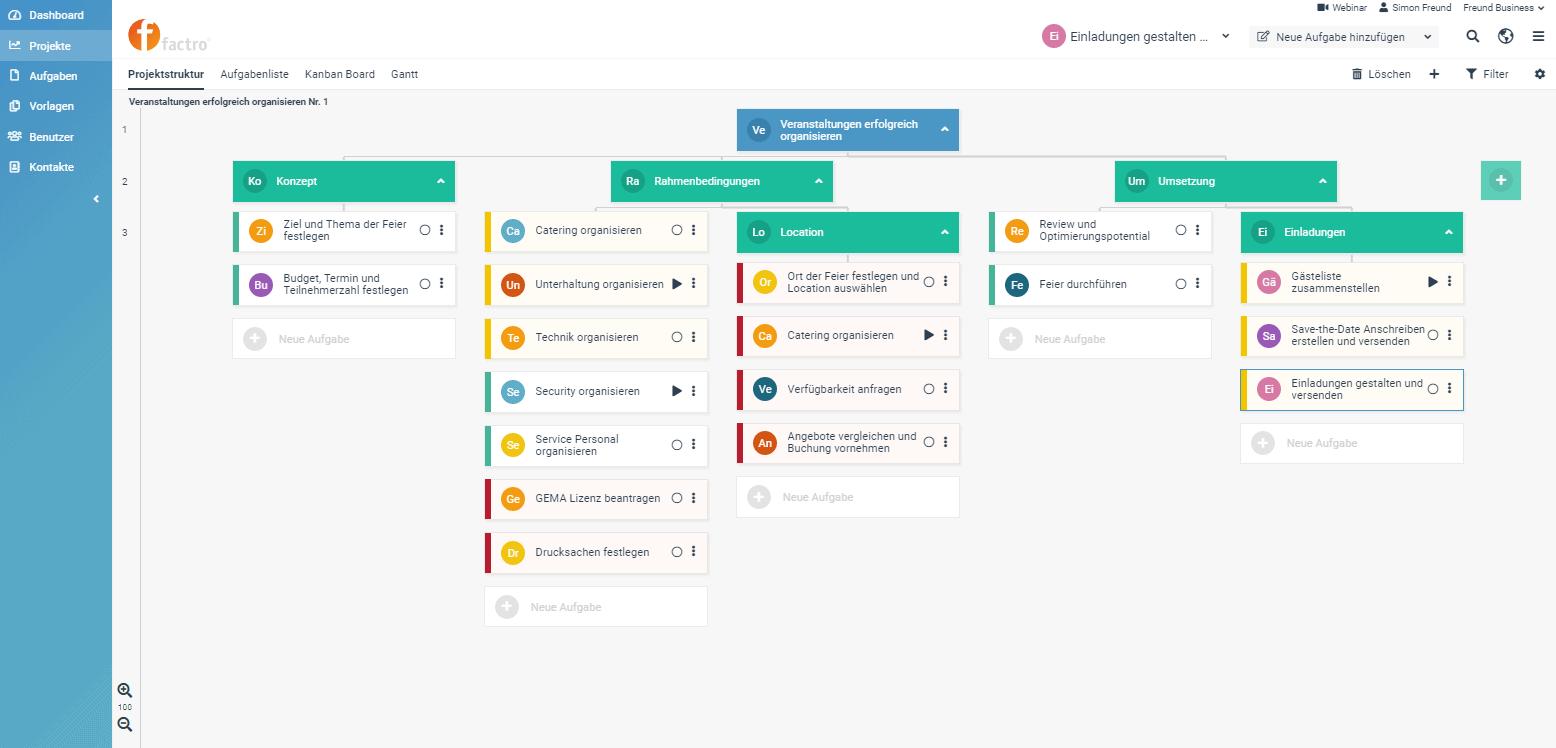 Factro Aufgaben- & Projektmanagement