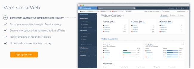 Wer die Besucherzahlen einer Webseite herausfinden will, kann gut auf SimilarWeb zurückgreifen