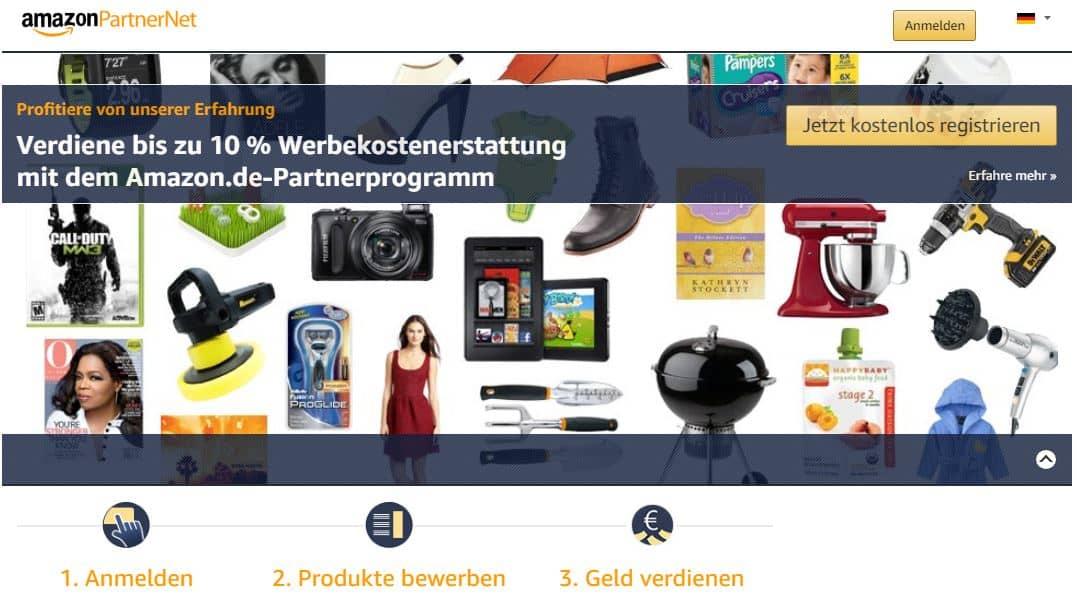 Geld mit Affiliate verdienen: Amazon Partnerprogramm