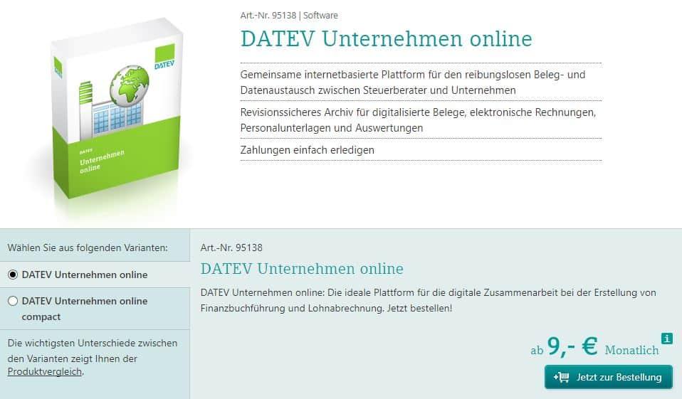 b14d30ef086716 Das von Steuerberatern oft verwendete Tool DATEV Unternehmen Online bietet  für Unternehmen die Möglichkeit