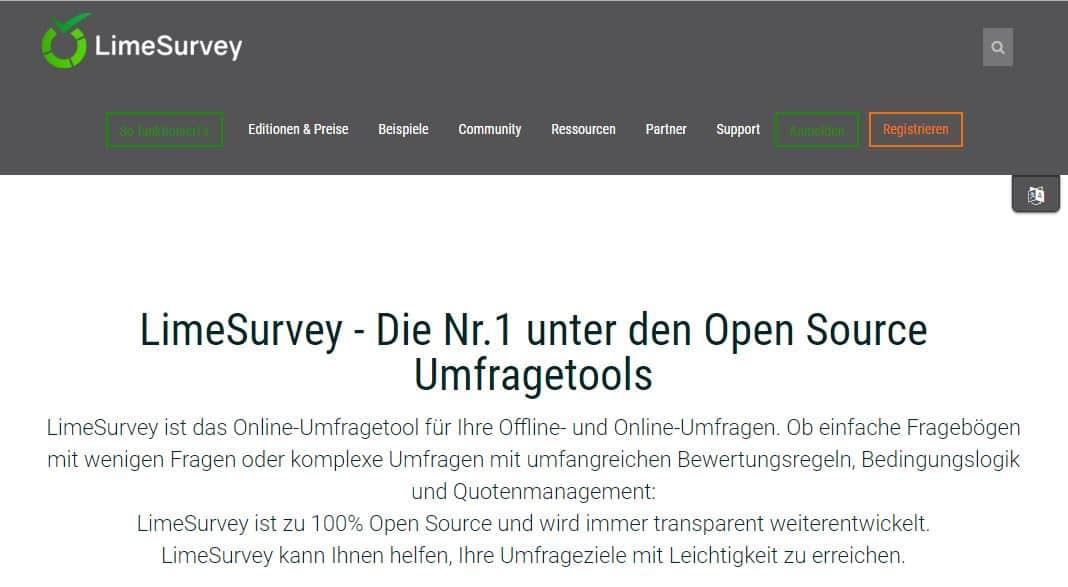 Mit der Open-Source-Umfrage-Software LimeSurvey einfach Umfragen online erstellen