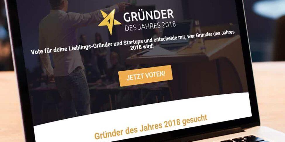Dein Voting Gruender des Jahres