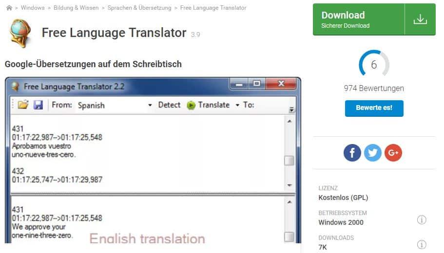 Free Language Translator download