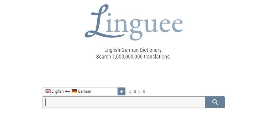 Übersetzungstool Linguee