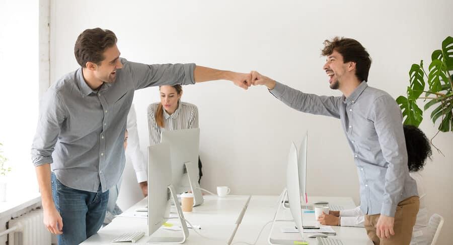 Erfolgreiche Unternehmer Mitarbeiter Inspirieren