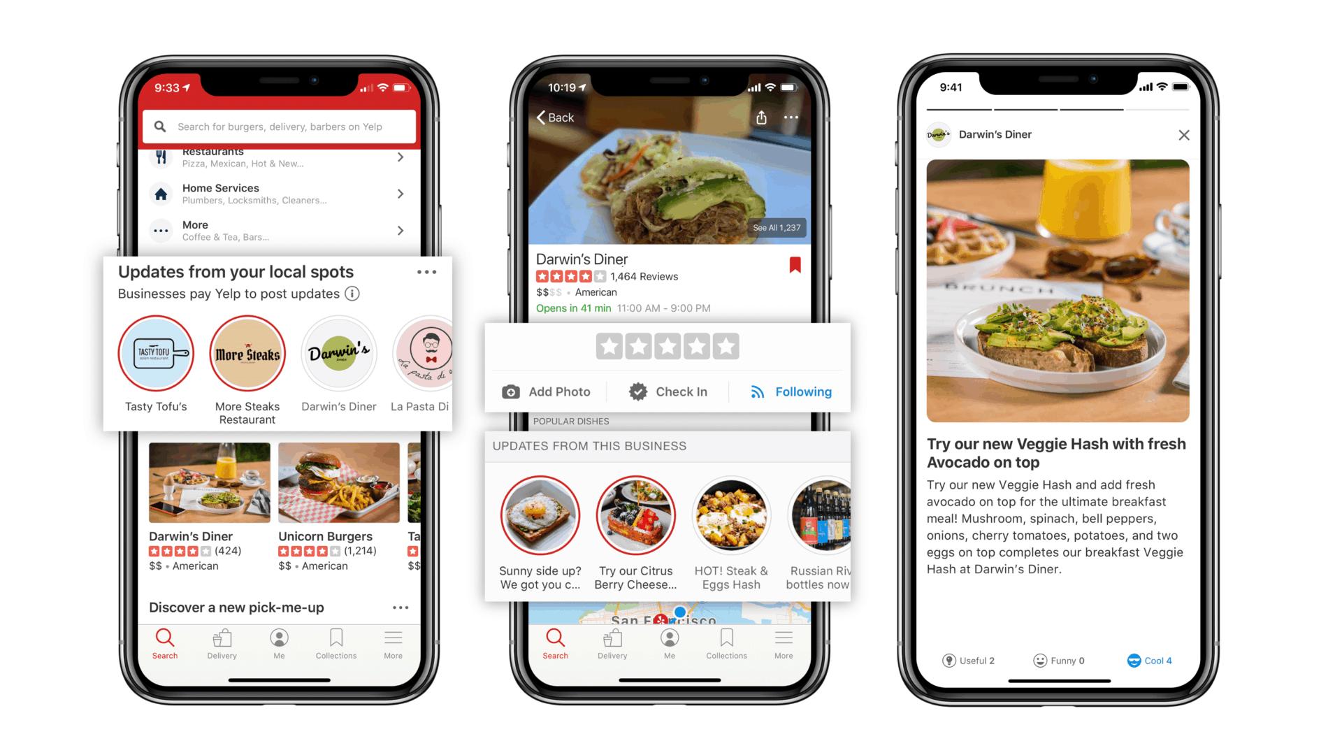 Mit Yelp-Bewertungen lassen sich Restaurants, Hotels und andere Unternehmen bewerten