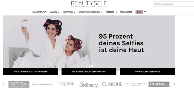 Beautyself ist ein Portal zum Thema Hautpflege