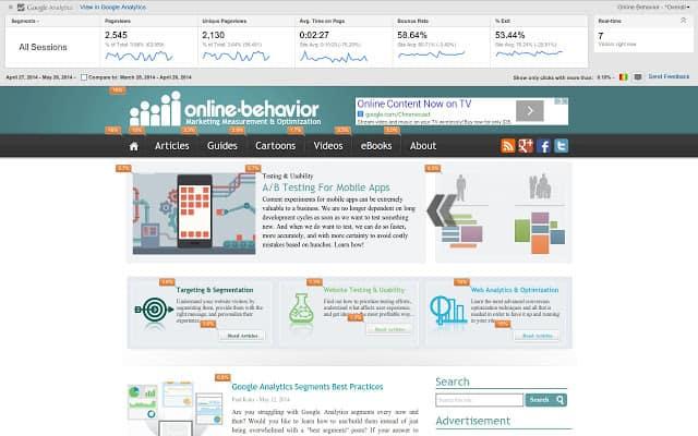 Google Page Analytics Beispiel