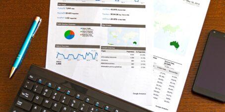 Auszug aus Google Analytics