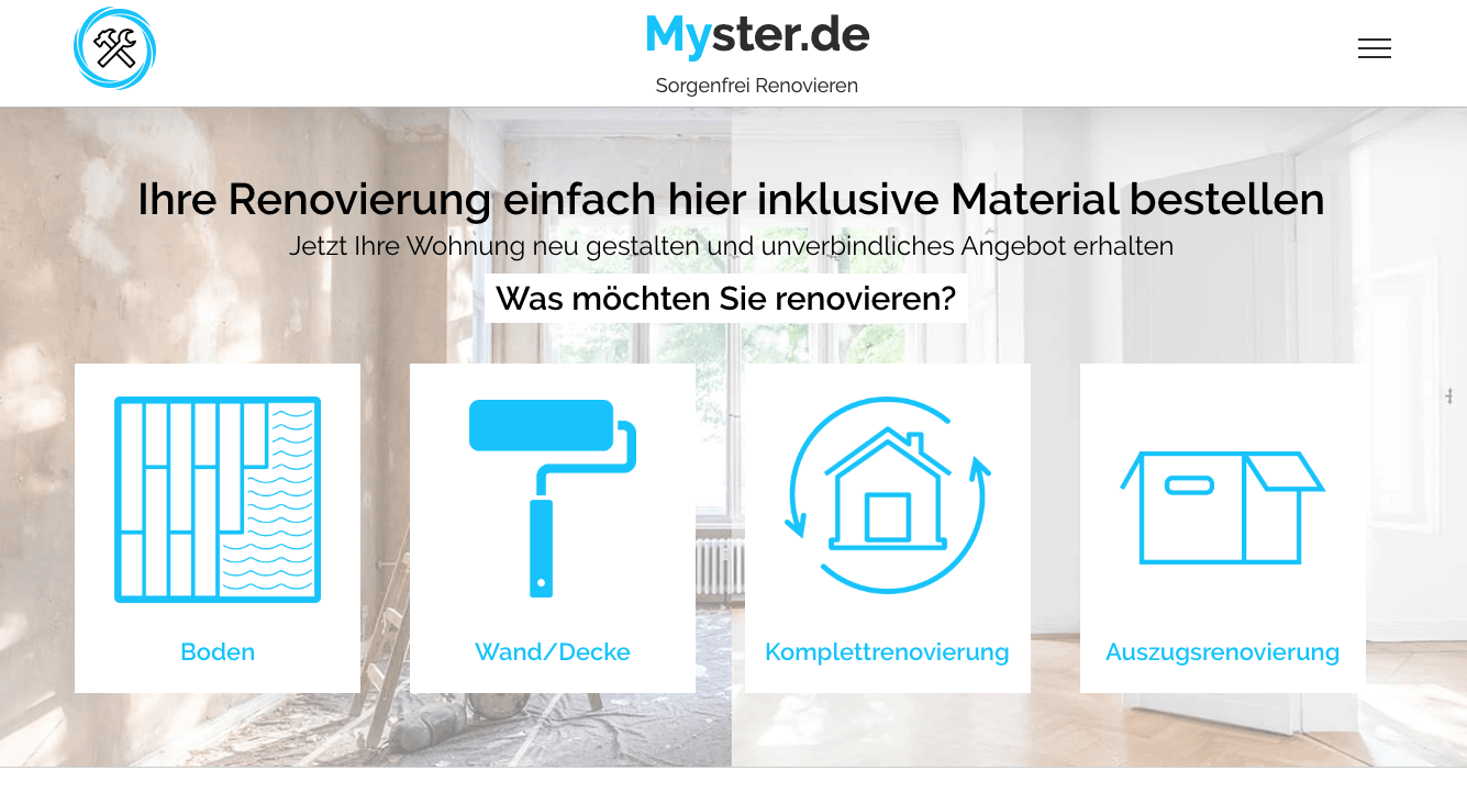 Myster.de verbindet Handwerker mit ihren Kunden