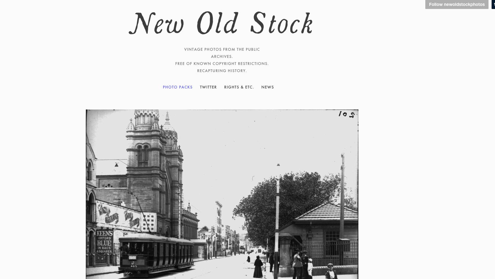Bei New Old Stock stehen lizenzfreie Bilder zur Verfügung, die schon etwas älter sind