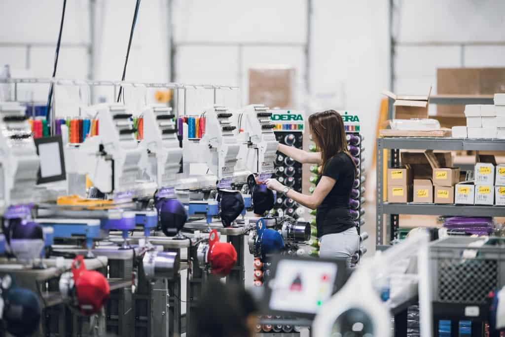 Die Produktion beim Dropshipping-Händler Printful