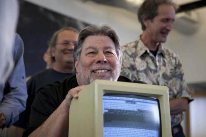 Steve Wozniak mit Computer