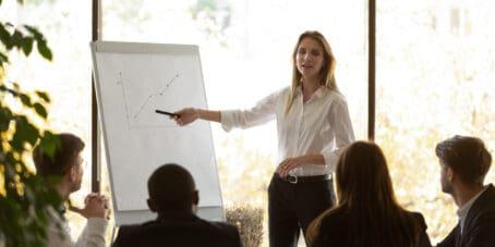 Wenn du Berater werden willst, dann gehören Vorträge ebenfalls zu deinen Aufgaben.