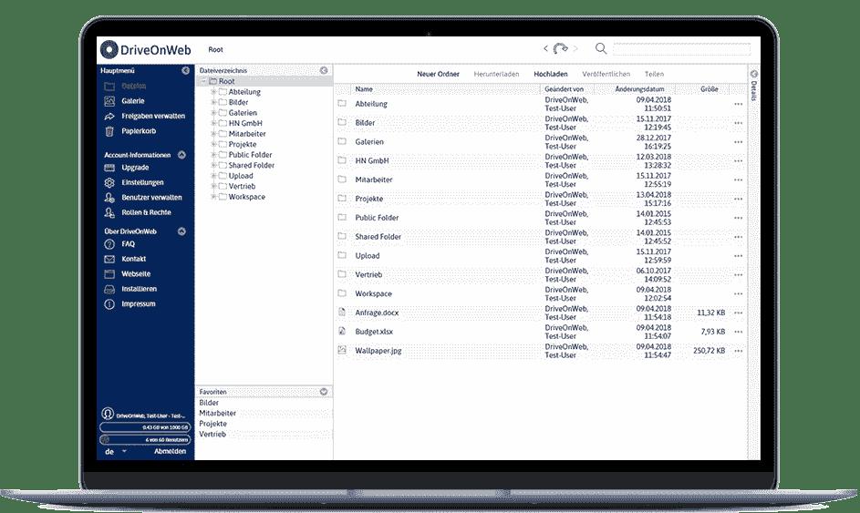 DriveOnWeb als Alternativlösung zu Dropbox.de