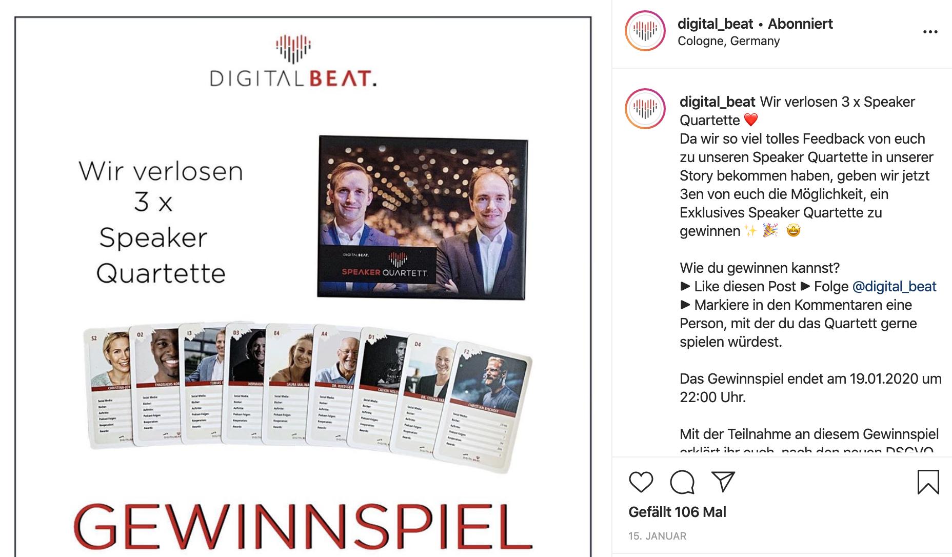 Gewinnspiele helfen dir, mehr Instagram-Follower zu bekommen