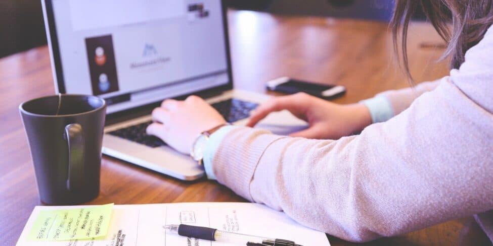 Mit Online-Umfragen Geld verdienen am Laptop