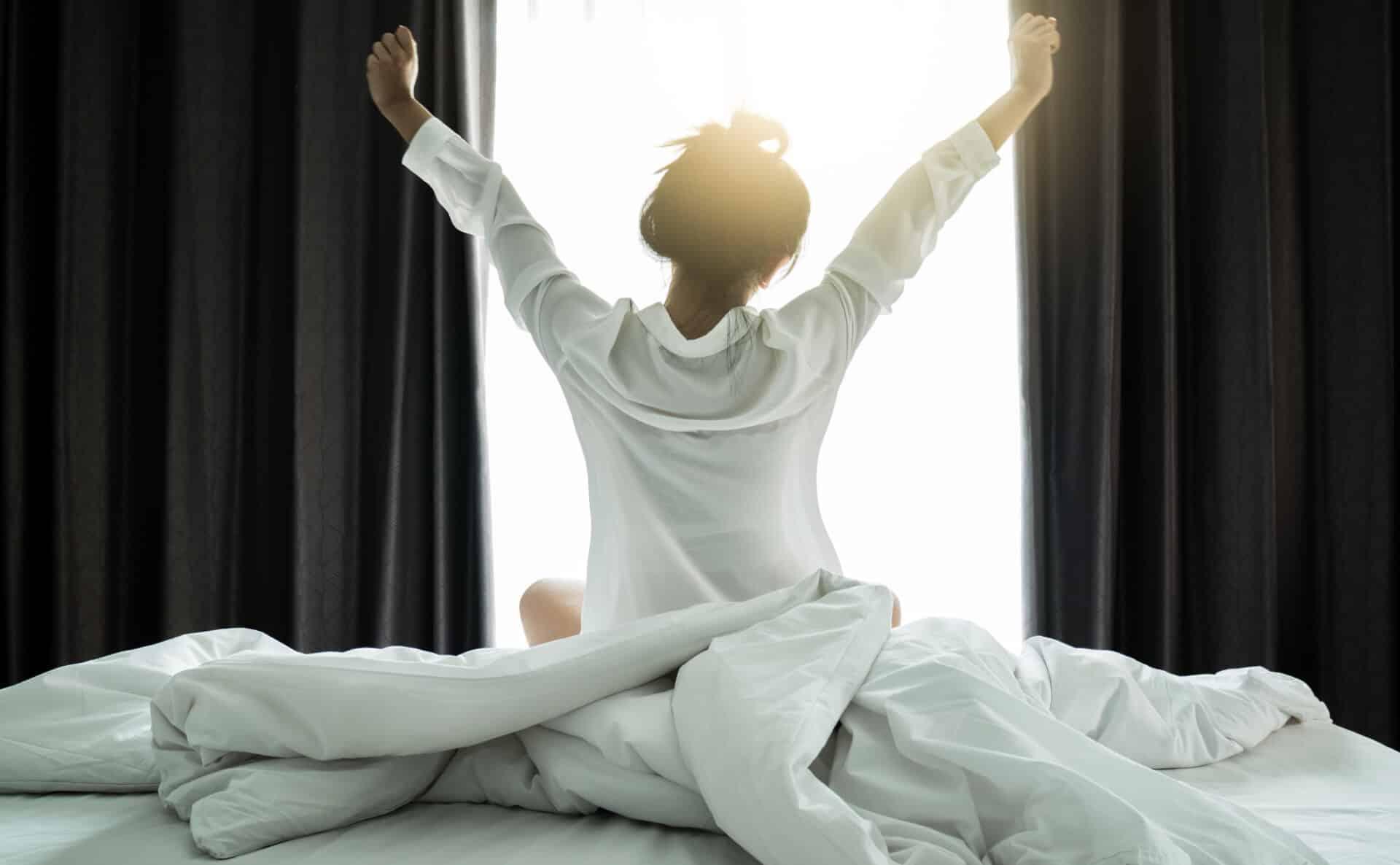 Morgens aufstehen gehört ebenfalls zur Routine