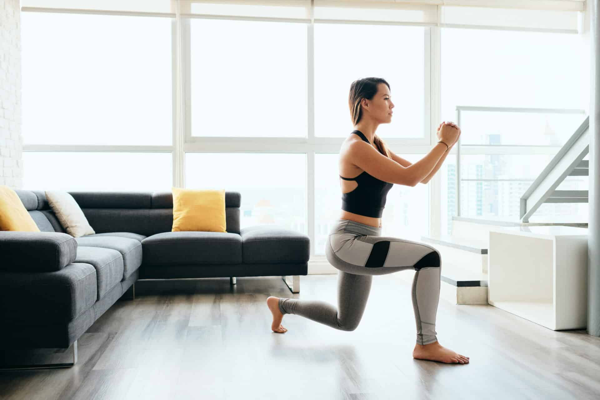 Home Workout Jumping Lunges