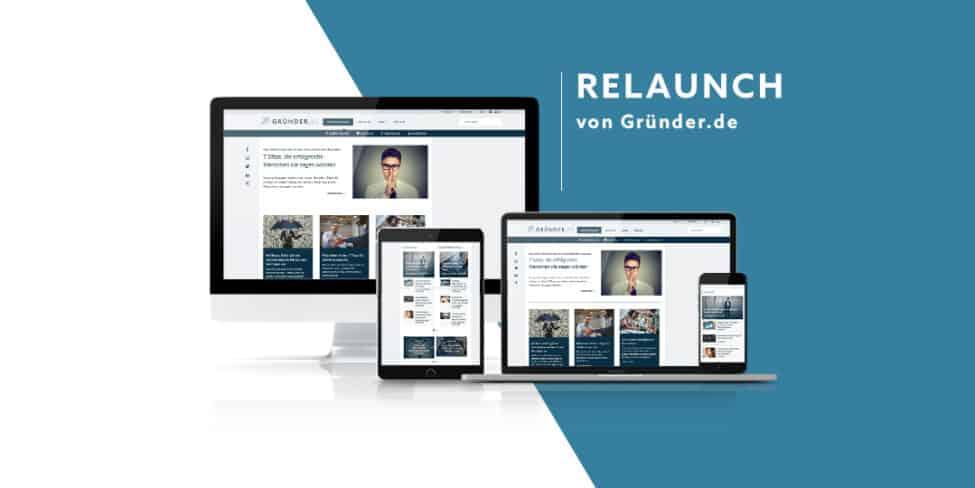 Gründer.de Relaunch 2020