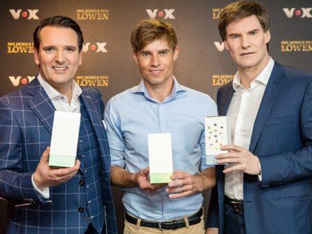 Ralf Dümmel (l.), Jörn-Marc Vogler von Veluvia (m.) und Carsten Maschmeyer (r.)