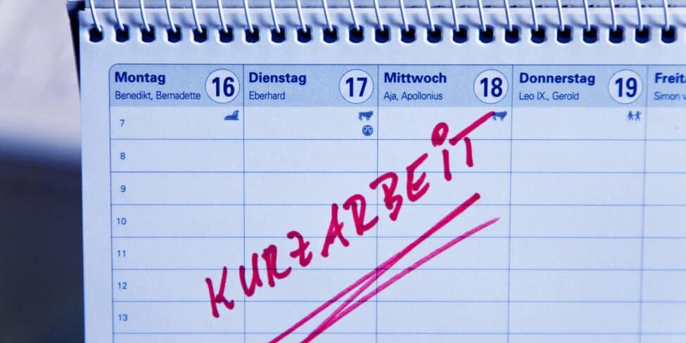 Kurzarbeit in Deutschland im Januar um fast ein Fünftel.