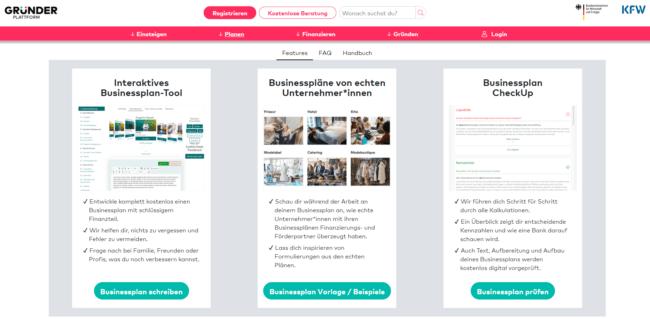 Businessplan von Gründerplattform