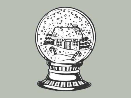 Mindset - symbolische Weihnachtskugel
