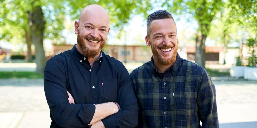 Das sind die beiden Little Lunch-Gründer Denis und Daniel Gibisch.