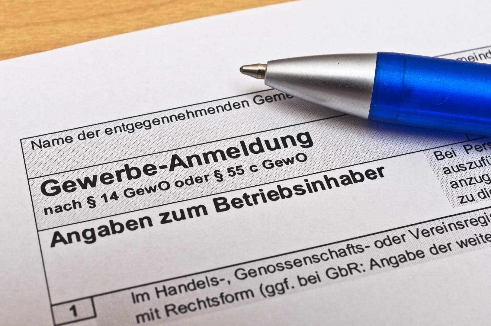Rechtsform für Gewerbeanmeldung