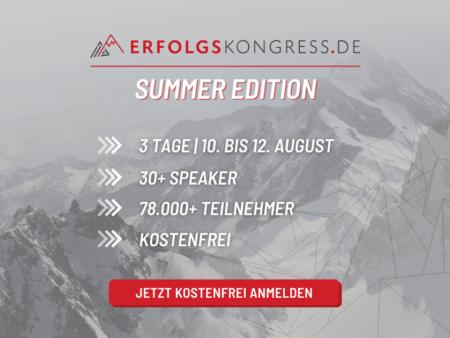 Erfolgskongress Summer Edition 2021