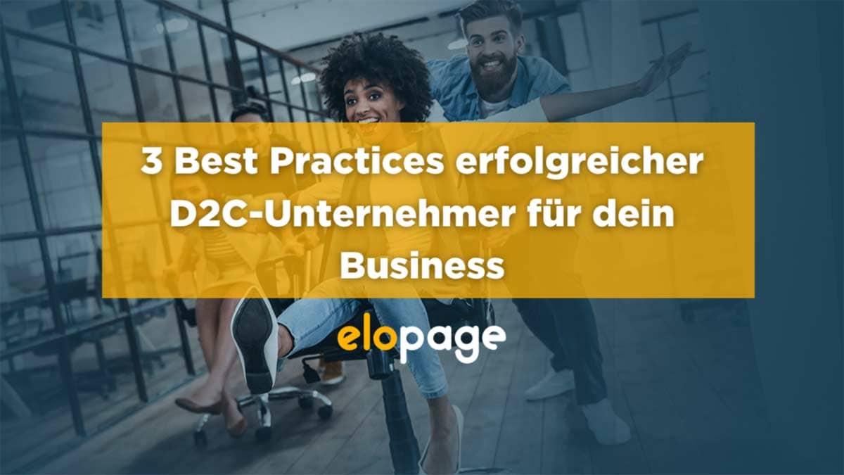 Webinar elopage D2C