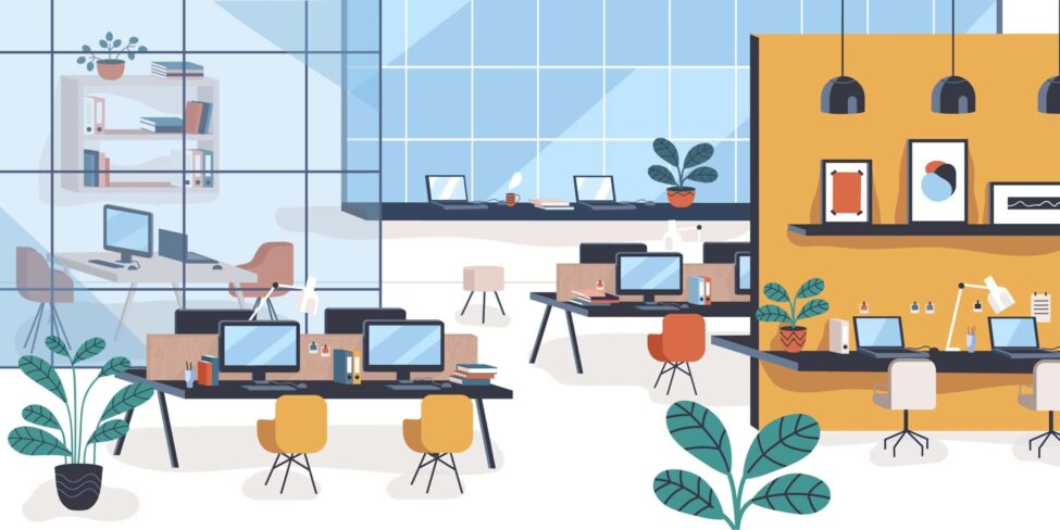 Desk-Sharing-Konzept